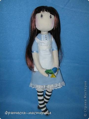 Всем привет! Дорогие посетители СМ, представляю вам вторую куколку СП по имени Элиза. Рост девочки -38см, сшита из двунитки, набивка- холоффайбер. фото 1