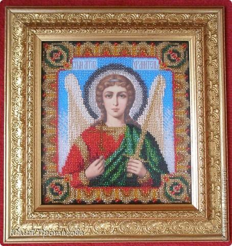 Решилась вышить образ Ангела хранителя своему сыну на два года.  фото 2