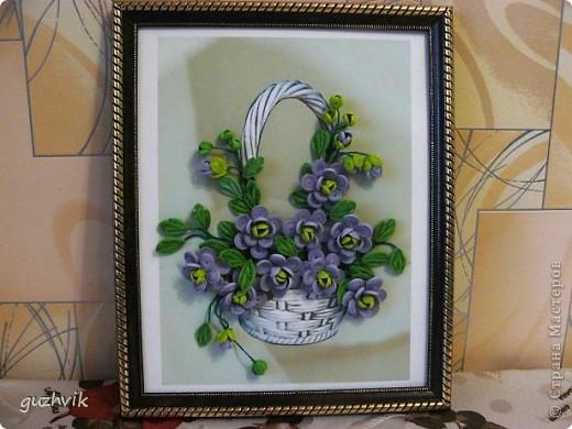 Картина сиреневых цветов. Приветик из Одессы!!! Я уже к Вам с букетом, я еще не делала такие большие цветы. Вообще это первый мой такой большой букет. фото 11