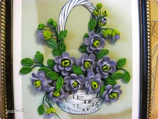 Картина сиреневых цветов. Приветик из Одессы!!! Я уже к Вам с букетом, я еще не делала такие большие цветы. Вообще это первый мой такой большой букет. фото 5