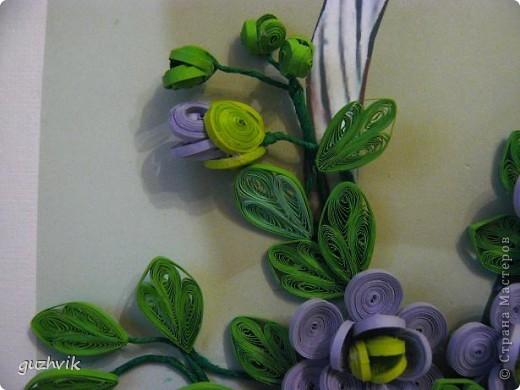 Картина сиреневых цветов. Приветик из Одессы!!! Я уже к Вам с букетом, я еще не делала такие большие цветы. Вообще это первый мой такой большой букет. фото 6