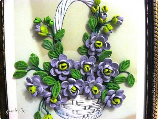 Картина сиреневых цветов. Приветик из Одессы!!! Я уже к Вам с букетом, я еще не делала такие большие цветы. Вообще это первый мой такой большой букет. фото 10