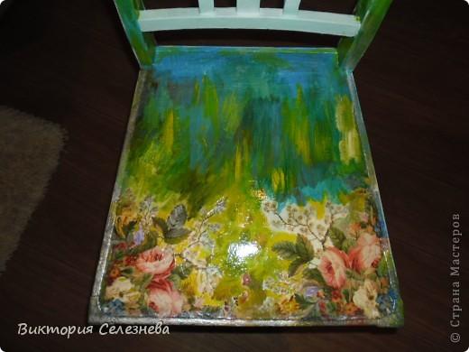 Старый стул доченька привезла с дачи, поставила задачу,, оживить,, фото 2