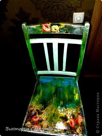 Старый стул доченька привезла с дачи, поставила задачу,, оживить,, фото 3