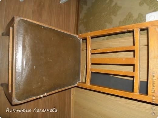 Старый стул доченька привезла с дачи, поставила задачу,, оживить,, фото 1