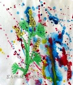 Такую необычную мимозу к 8 Марта мы рисовали с первоклассниками для мам. фото 6