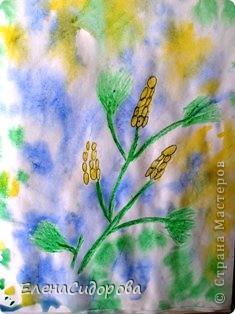 Такую необычную мимозу к 8 Марта мы рисовали с первоклассниками для мам. фото 8