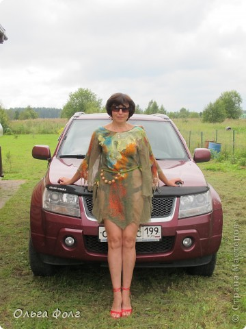 Хотела  сделать  блузку,  как  у  Ии  Озеровой,  а почему-то  вышло  платье фото 1