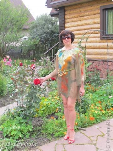 Хотела  сделать  блузку,  как  у  Ии  Озеровой,  а почему-то  вышло  платье фото 2
