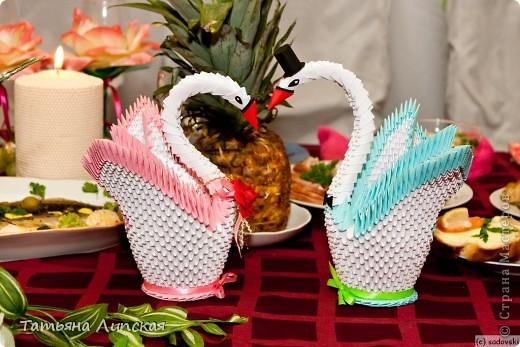 Всем доброго дня!  К свадьбе сестрёнки сделала вот таких двух лебедей по мастер-классу iv.olga ( http://stranamasterov.ru/node/47202?c=favorite )  фото 2