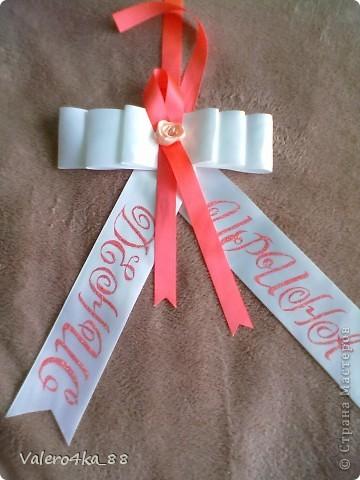 Декор предметов Свадьба Лепка Небольшое дополнение к набору Бисер Ленты Пластика фото 2.