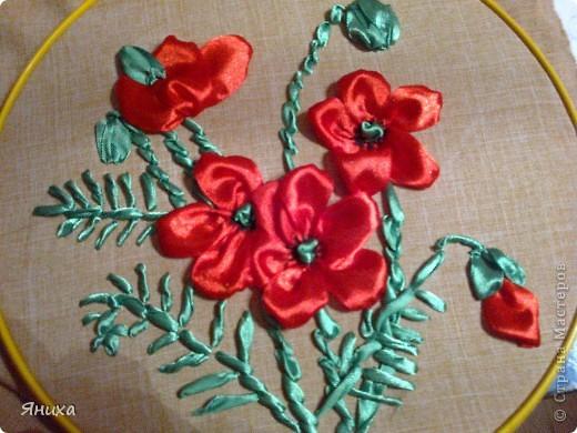 Одна из первых моих работ по вышивке лентами. фото 6