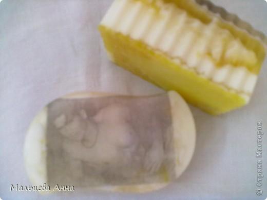 мыло с крошкой люффы , глиттером и запахом ванили фото 4