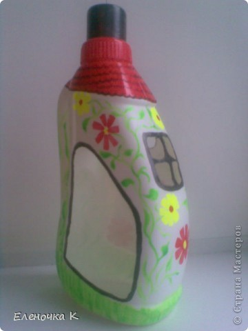 Домик из бутылки фото 1
