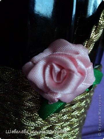 Очень понравилась идея http://stranamasterov.ru/node/298019  Попробовала сделать, а получилось, что эту бутылочку разыграли на свадьбе (номер свидетельства о браке). фото 3