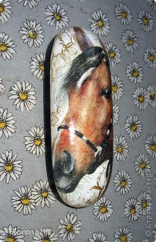 Мамочка моя родилась в год Лошади.Поэтому родились для неё ключница и очешник.На очешник примеряла много салфеток,лежал несколько месяцев,ждал её-салфетки с лошадкой.) фото 5