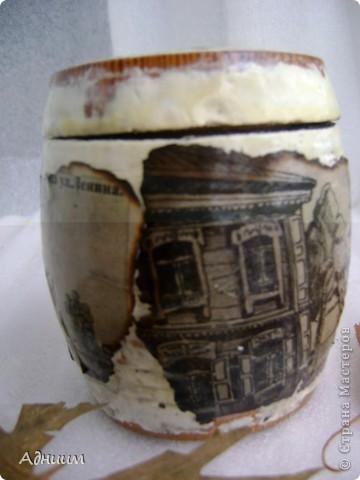 Чужая идея по поводу перевоплощения 10-ти литровой банки в вазу-в моём исполнении.И очень нуждаюсь в критике этой работы. фото 2