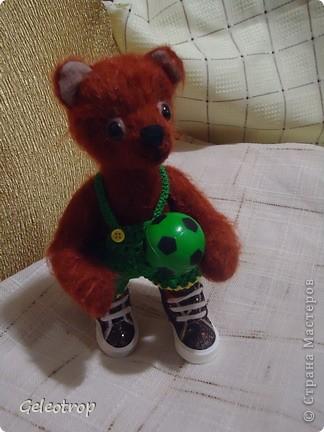 Мишка-футболист.Рост 20см,подвижный,на 5 шплинтах фото 3