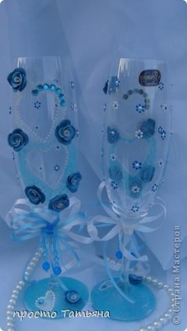 Готовлюсь к выставке, но эта пара бокалов с эту субботу уже будет на свадьбе гулять!!! фото 3