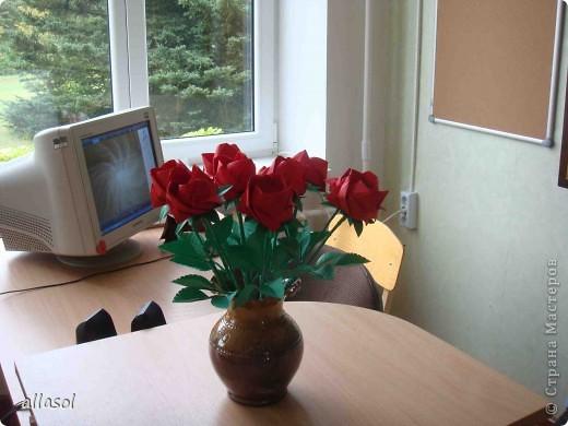 Продолжаю подготовку к выставке цветов оригами. Розы Кавасаки я уже делаю не в первый раз.  http://stranamasterov.ru/node/198800  фото 2