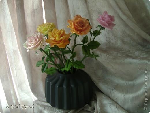 Рада видеть ВСЕХ!!!!!Вот сделала розы по просьбе, надеюсь понравятся)))))Приятного просмотра!!!!Будет приятно услышать Ваше мнение!!!! фото 2