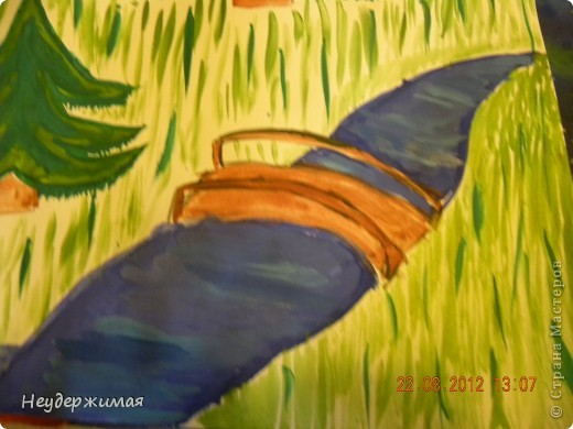 """Общий рисунок (все рисунки рисовали вместе с Неадекватной)))) """"Вечерний закат на море"""" фото 3"""