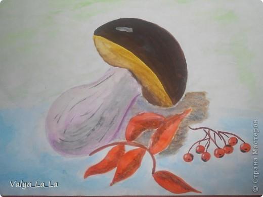 Розочка на черном картоне,карандаши. фото 2