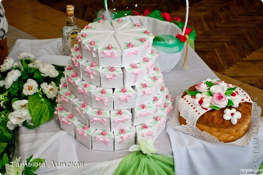 Свадебный торт фиолетового цвета фото 6