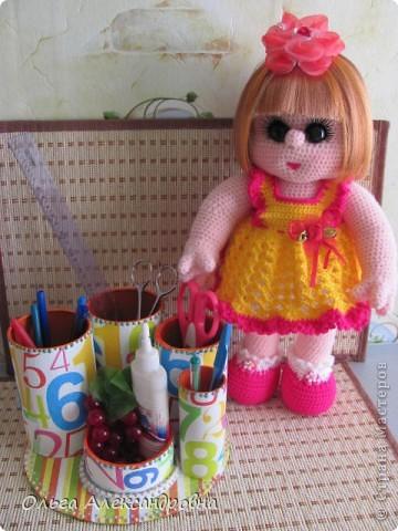 Дорогие мастерицы, я к вам опять со своей куколкой и небольшим декупажем. фото 15