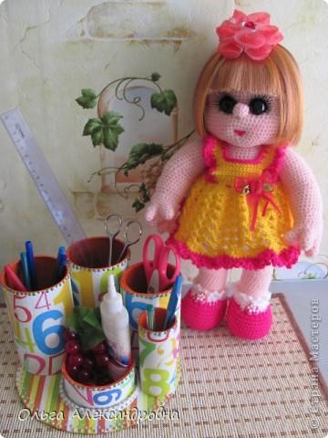 Дорогие мастерицы, я к вам опять со своей куколкой и небольшим декупажем. фото 7