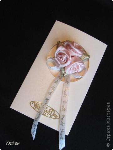 Свадебная открытка с отделением для денег. фото 1