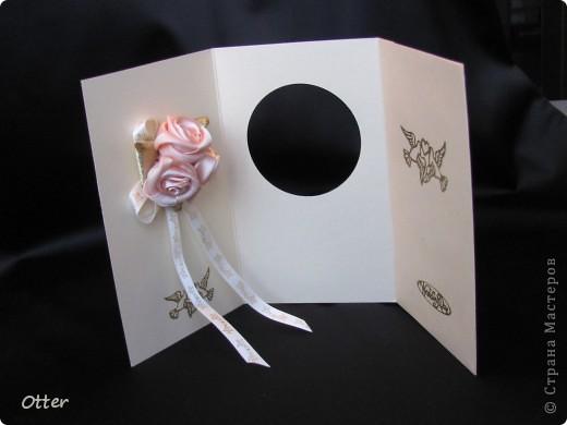 Свадебная открытка с отделением для денег. фото 3