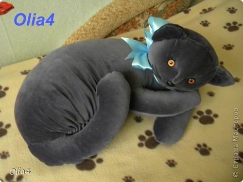 Интерьерная кошка-подушка  с выкройкой фото 1