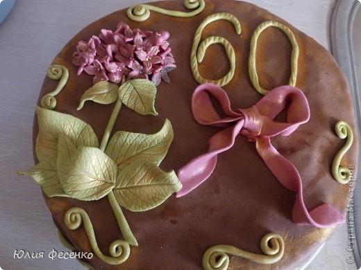 Тортик на День рождения дочери.Украшала мастикой из маршмеллоу. фото 2