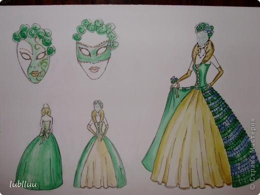 Мой дипломный проект-2009 год!Костюм Венецианской Дамы!Много было приложено усилий!Но было интересно и думаю получилось не плохо!!!!!!!!!!!!! фото 12