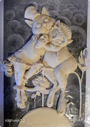 """Добрый вечер дорогие мастерицы! Вот наконец таки доделала я своих любимчиков. Котики сделаны по картине художницы  Надежды Соколовой """"Свидание"""". Очень уж впечатлили её работы! фото 2"""