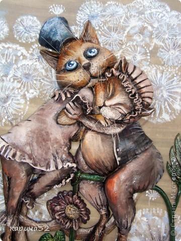 """Добрый вечер дорогие мастерицы! Вот наконец таки доделала я своих любимчиков. Котики сделаны по картине художницы  Надежды Соколовой """"Свидание"""". Очень уж впечатлили её работы! фото 6"""