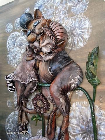 """Добрый вечер дорогие мастерицы! Вот наконец таки доделала я своих любимчиков. Котики сделаны по картине художницы  Надежды Соколовой """"Свидание"""". Очень уж впечатлили её работы! фото 4"""
