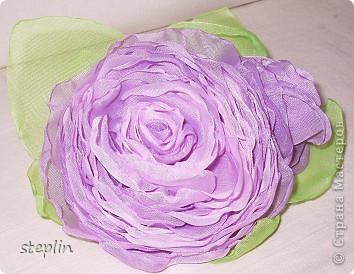 Цветы из шифона фото 1