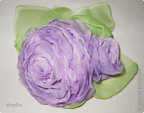 Цветы из шифона фото 2