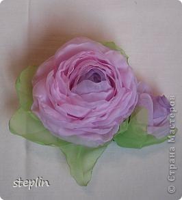 Цветы из шифона фото 3