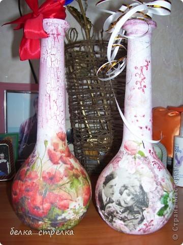 Ну вот, наконец-то в конце лета у меня образовались две новенькие бутылочки,две такие одинаковые по форме и такие разные. фото 1