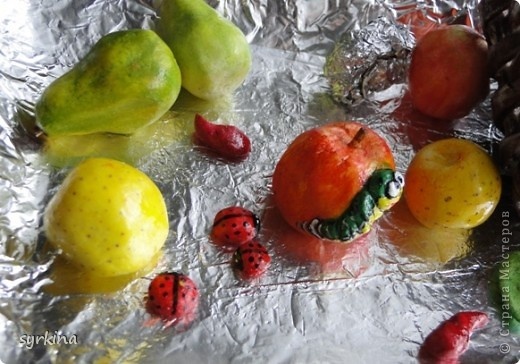 фрукты из соленного теста фото 1