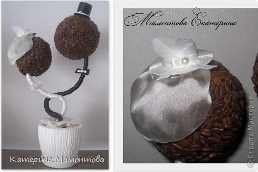 Вдохновившись нежными и изысканными работами Наташеньки http://stranamasterov.ru/user/118439 состворила такой вот топиарий - подарочек ко дню свадьбы: фото 5