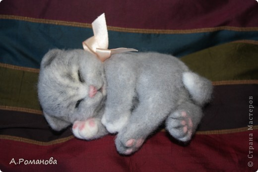 спящий котенок:) 16 см фото 2