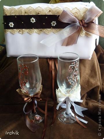 """Свадебные бокалы """"Жених и невеста"""" фото 3"""