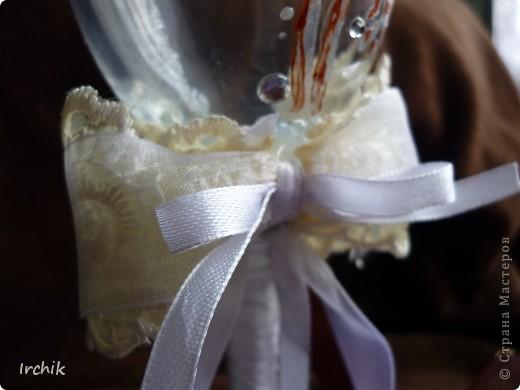 """Свадебные бокалы """"Жених и невеста"""" фото 5"""
