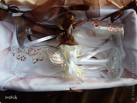 """Свадебные бокалы """"Жених и невеста"""" фото 7"""