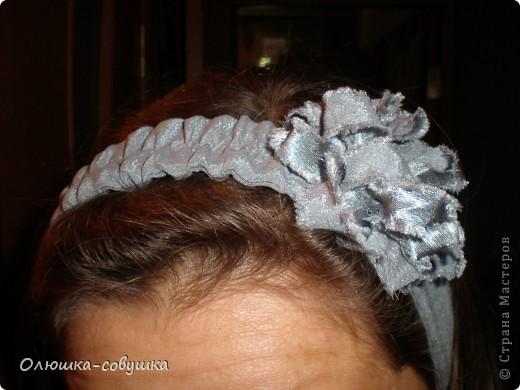 Сшила себе такую повязочку на голову.Цветы казанши пока делать не умею, поэтому накрутила вот такой... фото 1