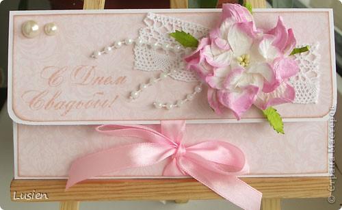 Свадебные конверты и открытка фото 1